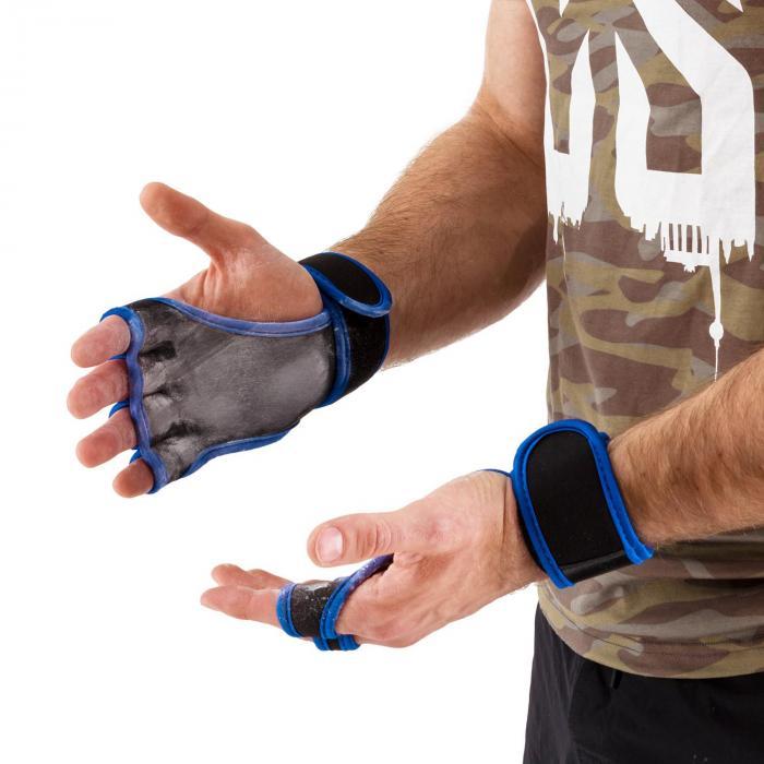 Palm Pro Gewichthebehandschuhe Größe M schwarz/blau