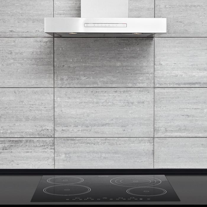 Virtuosa Keramikkochfeld Einbauherd 6500W 59x52cm 4 Zonen Glaskeramik