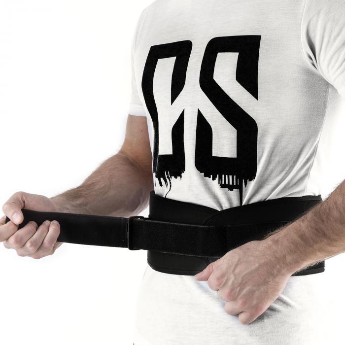 Rugg Gewichthebegürtel Klettverschluss ultraleicht Gr. L schwarz