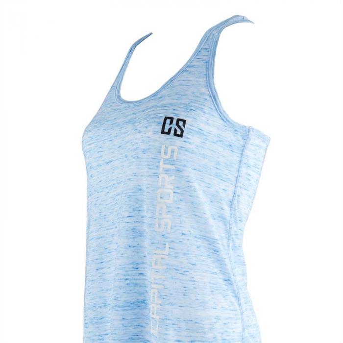 Trainings-Top für Frauen Size XL Blau marmoriert