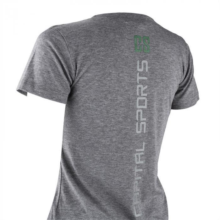 Trainings-T-Shirt für Frauen Size S Grau meliert