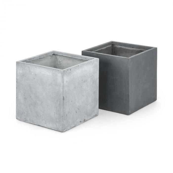 Solidflor Pflanzkübel Pflanzgefäß 79,5x38x38 cm Fiberton grau