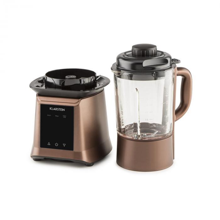 Herakles Heat Suppenmixer 1300W/1,7PS 900W 1,75l BPA-frei Glas bronze
