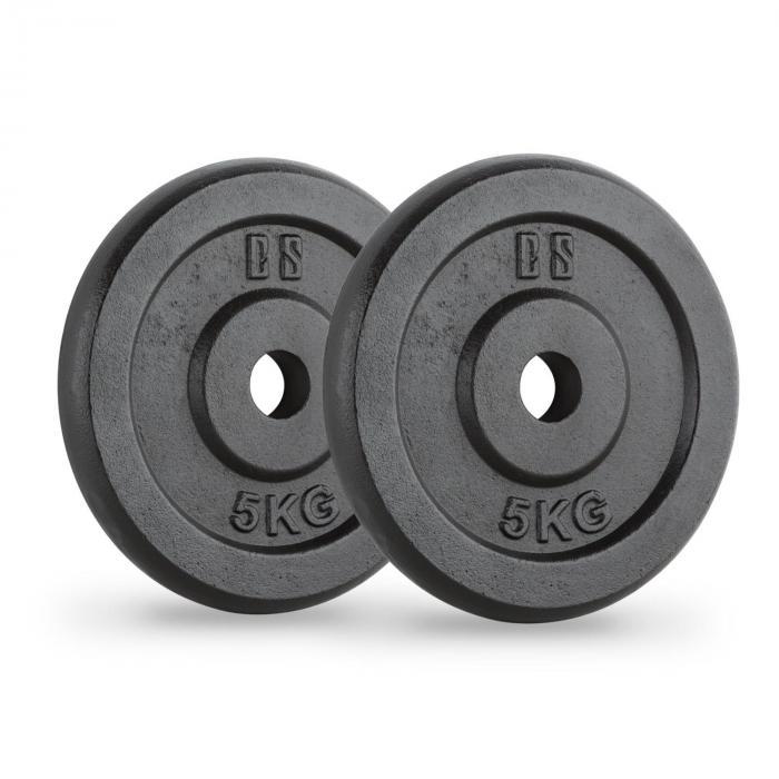 IPB 15 kg Set Gewichtsscheibenset 4 x 1,25 kg + 2 x 5 kg 30 mm