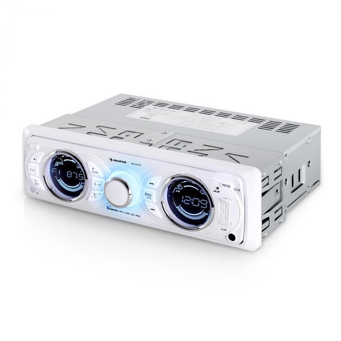 MD-170-BT Autoradio weiß MP3 USB SD RDS AUX Bluetooth