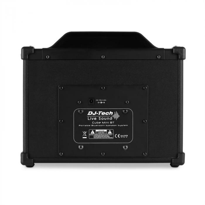 Mini Cube BT portable PA-Lautsprecherbox Bluetooth USB AUX schwarz