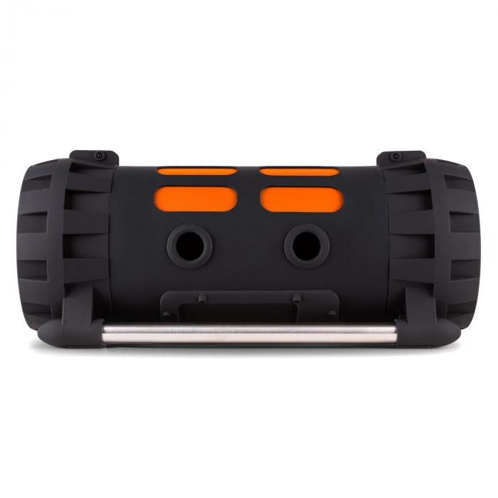Soundstorm Ghettoblaster Bluetooth NFC USB Akku schwarz/orange