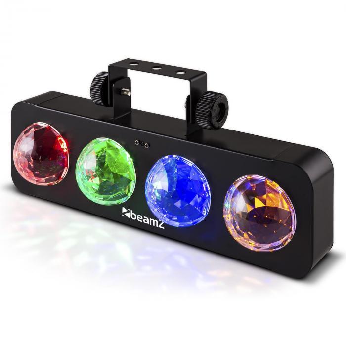 DJ Bank BX LED-Lichteffekt 4 x RGBA-LED Fernbedienung schwarz