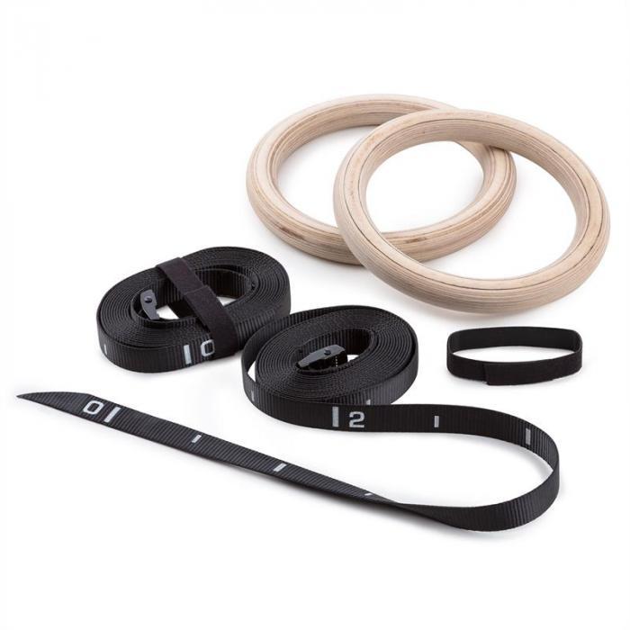 Looptar Turnring Set Holz Schnellverschluss Nylongurte Gymnastik