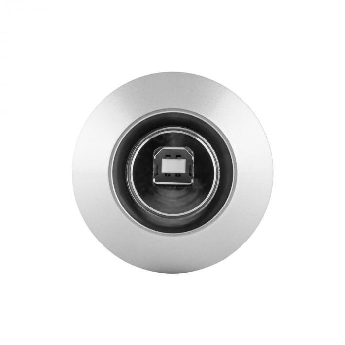 MIC-900S-LED USB Kondensator Mikrofon silber Niere Studio LED