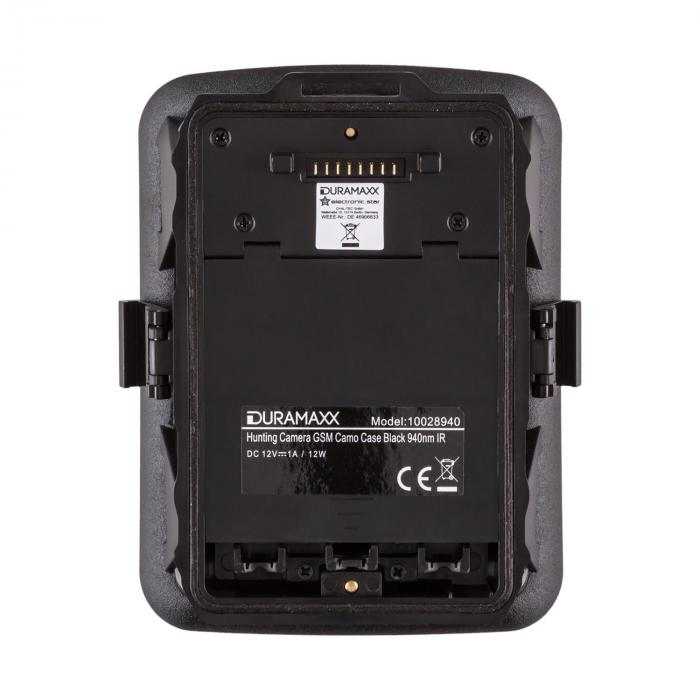 GRIZZLY Mini GSM Wildkamera 40 Black LEDs 12 MP Full HD Batteriepack