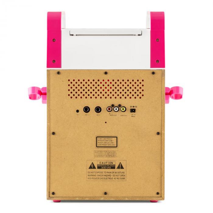 KA8P-V2 PK Karaokeanlage CD-Player AUX 2 x Mikrofon pink