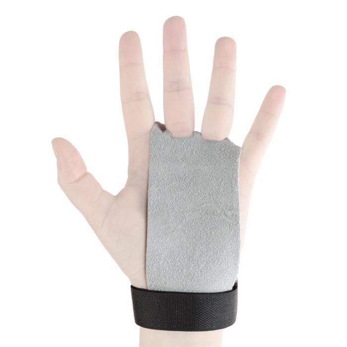 Gymies Handschutz Paar Echtleder Klettverschluss Gr. M weiß