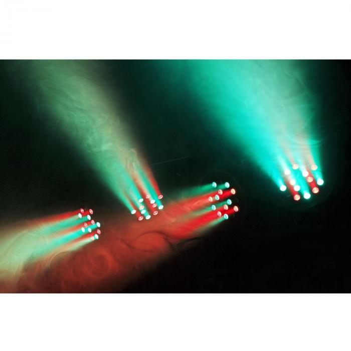 PARBAR 4-Wege Kit 18x 1W RGB LEDs DMX T-Balken Transporttasche