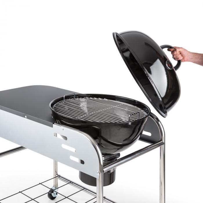 Meatpacker XXL Holzkohlegrill BBQ Smoker Ø 54 cm verzinkt