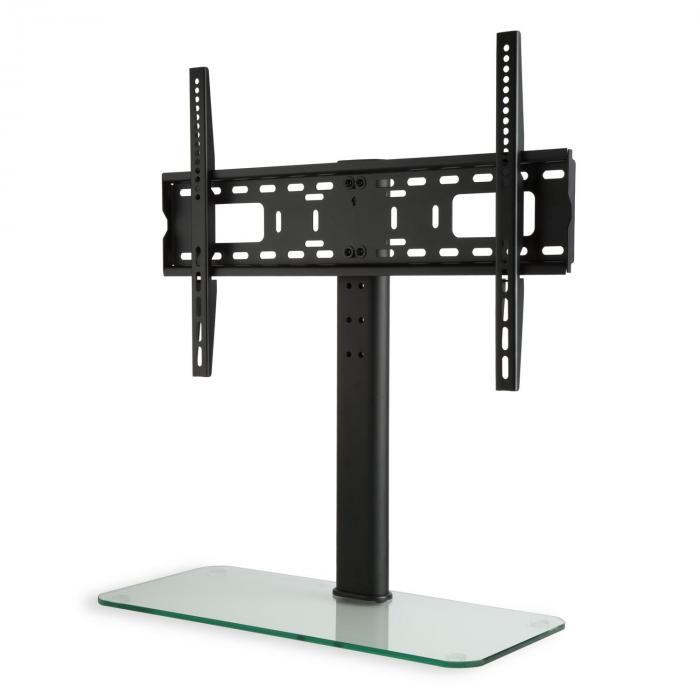 TV-Ständer Größe L Höhe 75 cm höhenverstellbar 23-55 Zoll Glasfuß