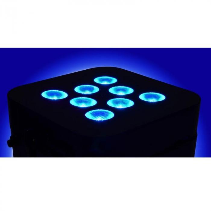 Wi-Bar 8x 3W Tri-color LEDs Akku 2.4GHz DMX inkl. Fernbedienung