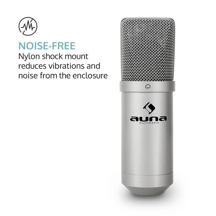 MIC-900S USB Kondensator Mikrofon silber Niere Studio