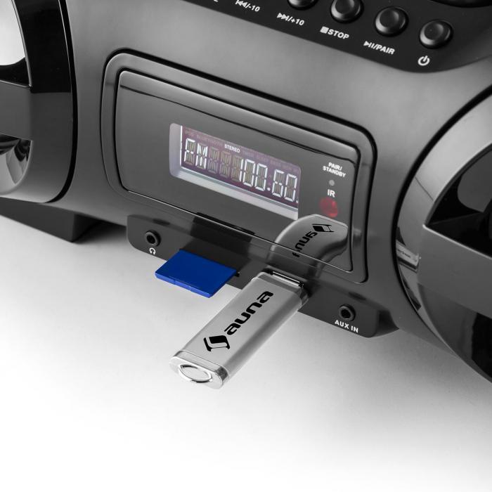 Soundblaster M Boombox Bluetooth 3.0 CD/MP3/USB UKW LED 50W max.