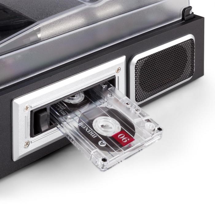 Retro05 Audiosystem Plattenspieler USB SD AUX UKW/MW Kassette