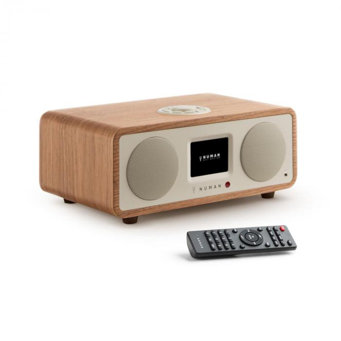 One - 2.1 Design Internet Radio 20W Bluetooth Spotify Connect DAB+ Walnuss